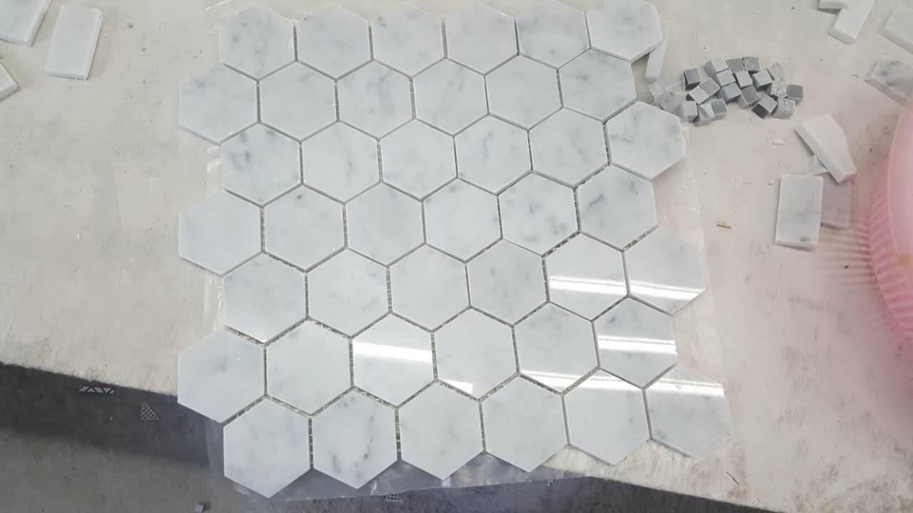 carara mosaic marble