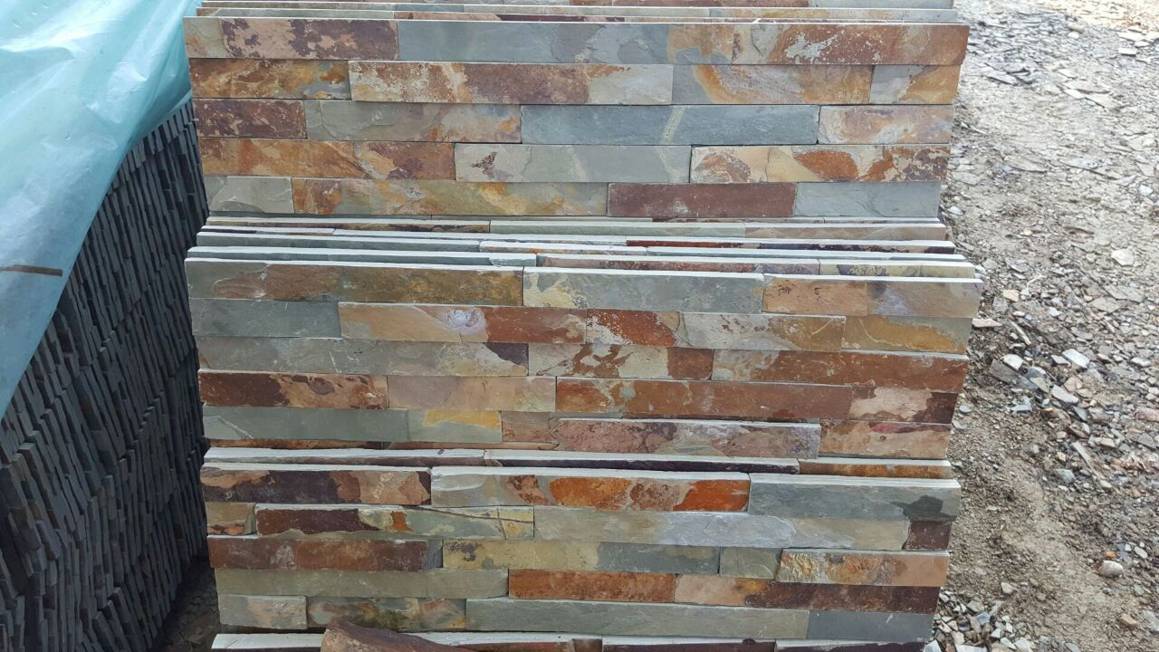 Rusty slate Cultured stone Stack stone,stone veneer for wall cladding