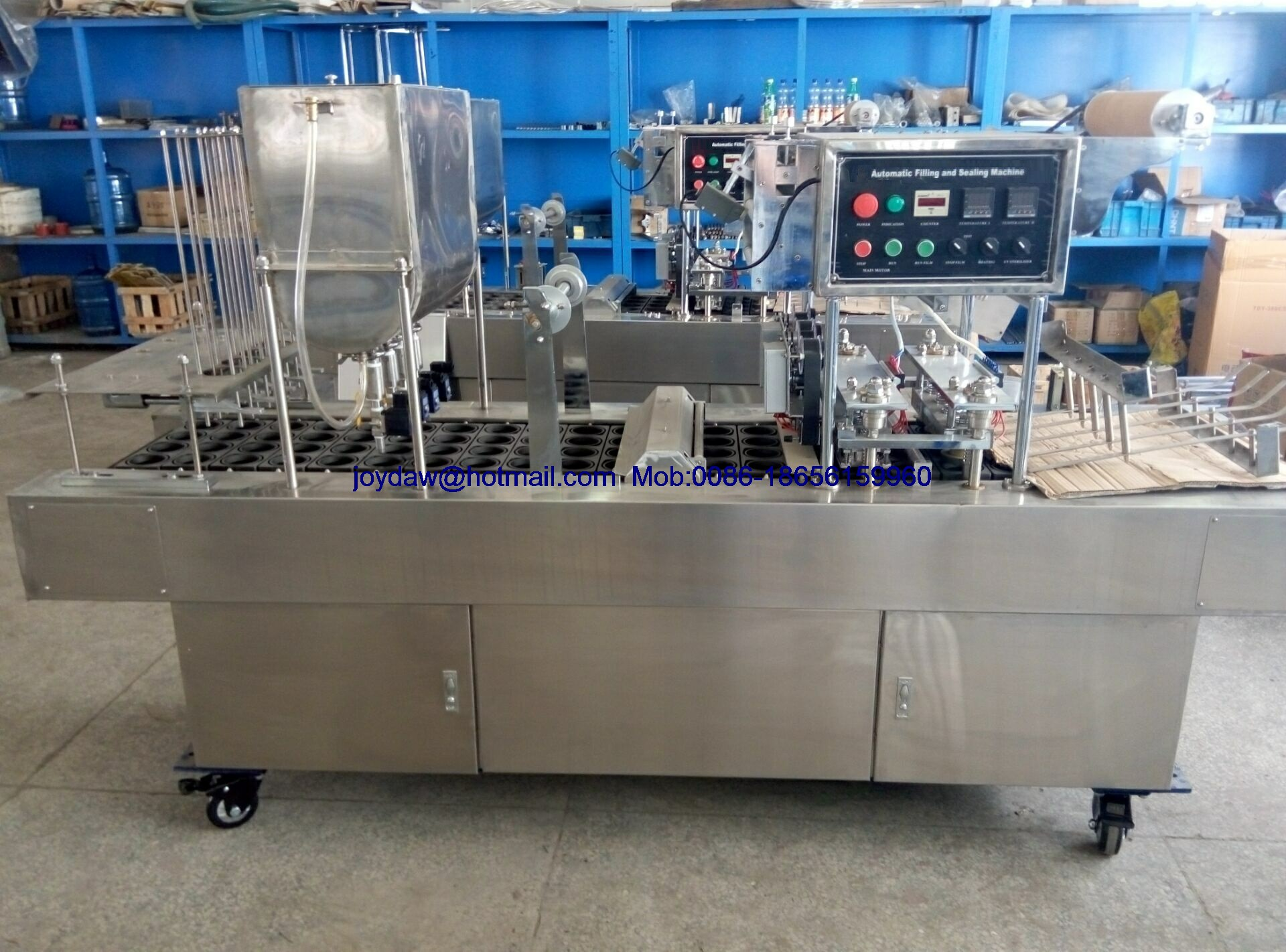 Plastic cup water filling sealing machine