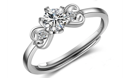 Wedding Cubic Zircon Adjustable Sterling Sliver Ring