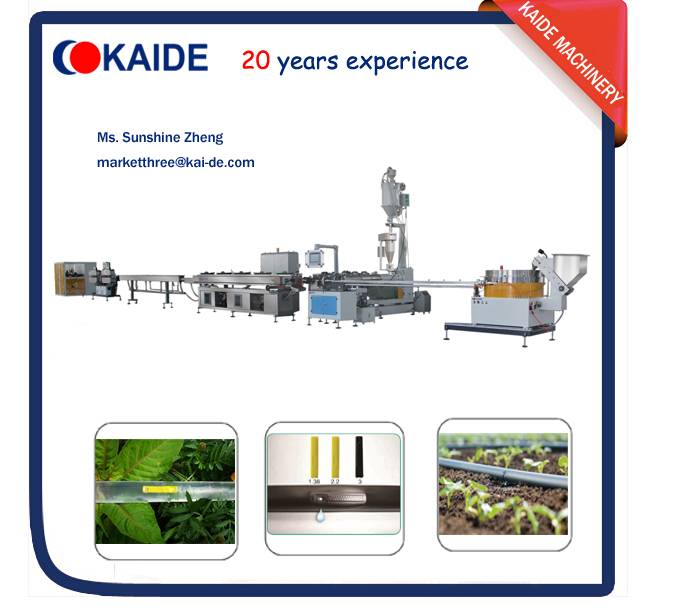 Inline flat emitter drip irrigation tape extruding machinery KAIDE