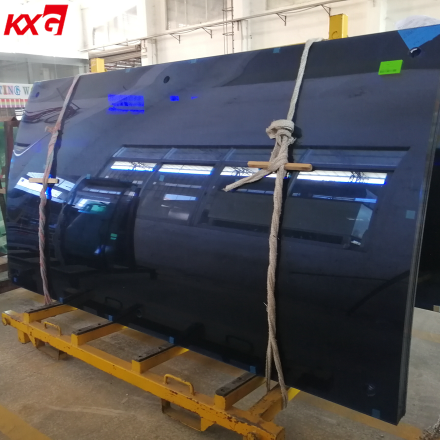 12mm Ford Blue Curved Tempered Glass Tinted Safety Bent Toughened Glass Manufacturer