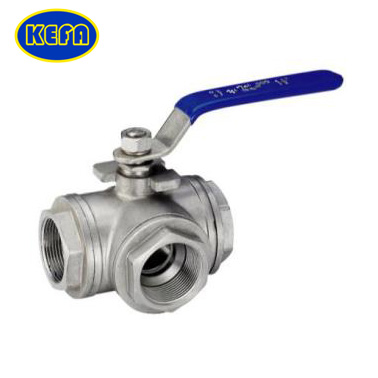 T type three-way ball valve