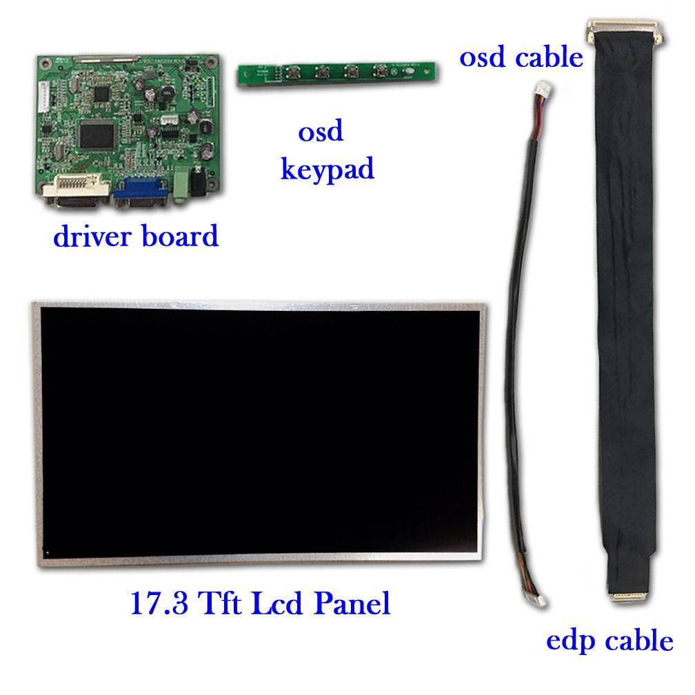 "17.3"" 16:9 Color Lcd module with led backlight eDP interface with 300 cd/m2"
