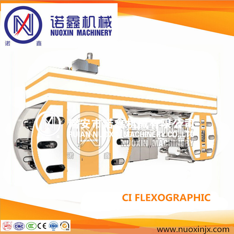 satellite type 6 color central drum CI flexographic printing machine