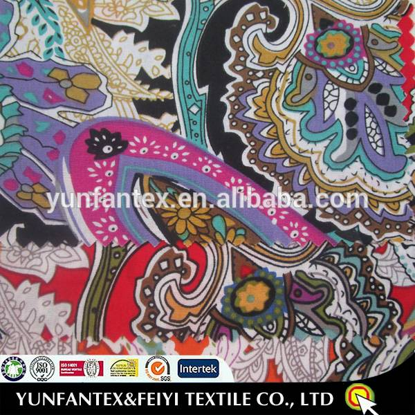 African Wax Paisley Print Fabric 100 Cotton For Women