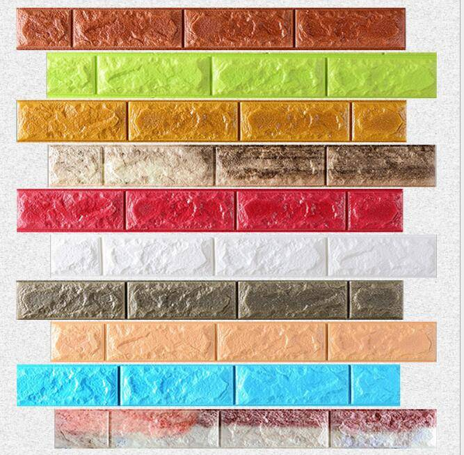 Modern simple 3D background moisture-proof XPE foam wall bricks wall panel