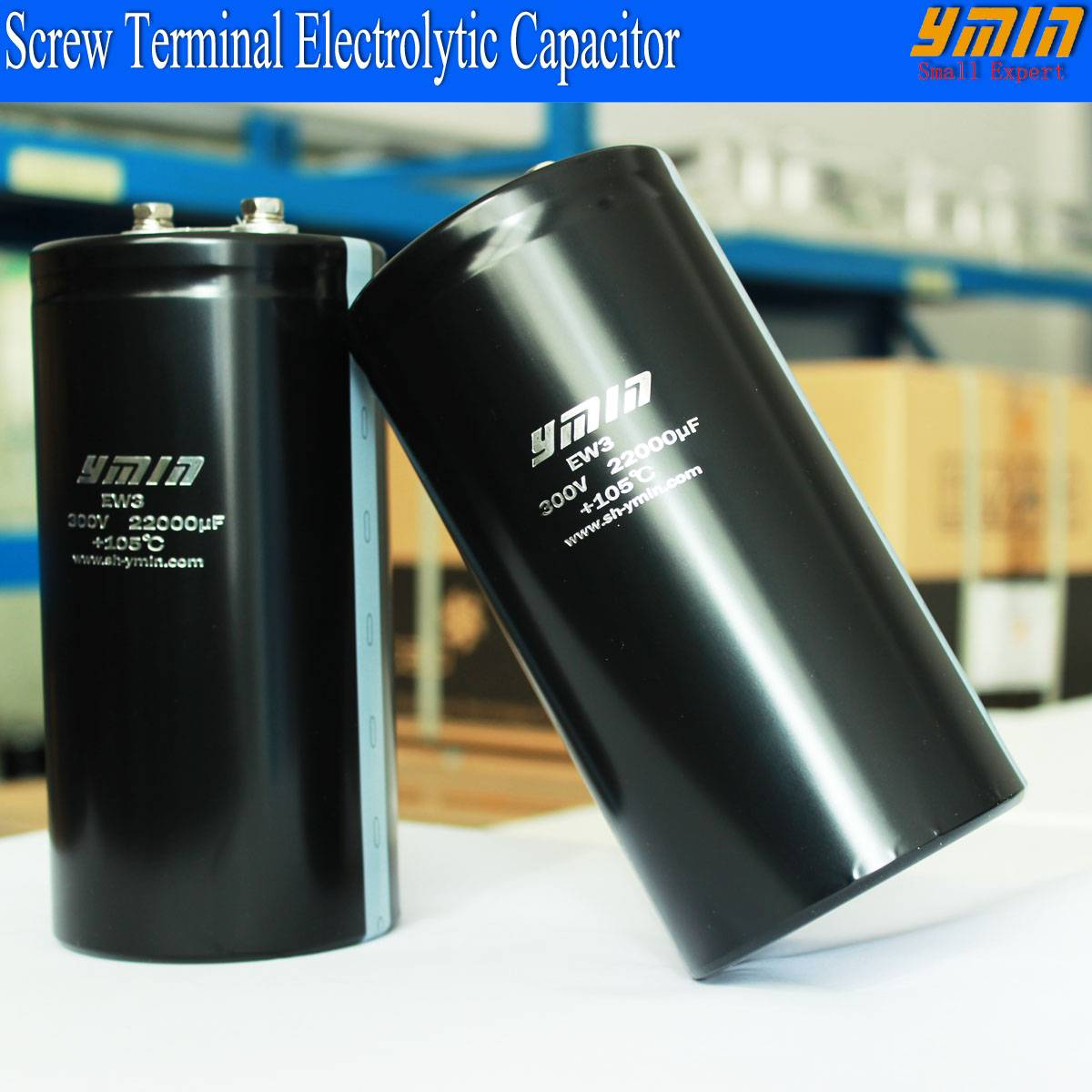 Industrial Capacitor Screw Mounted Terminal Electrolytic Capacitor for Renewable Energy Vehicle