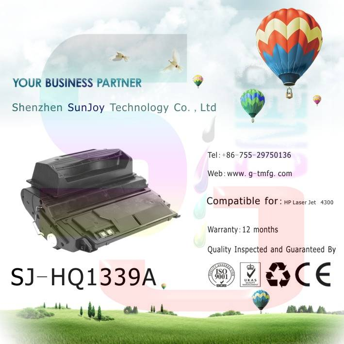 Sunjoy 39A toner cartridge Q1339A compatible for HP Laserjet 4300 4345mfp