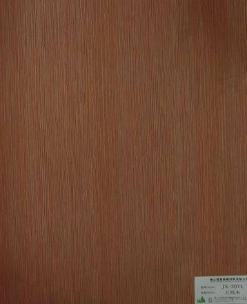 melamine paper/furniture decorative paper JS-3071 red line wood