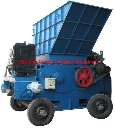 Durable mobile stump grinder wood chipper tree shredder wood crusher for biomass plant etc