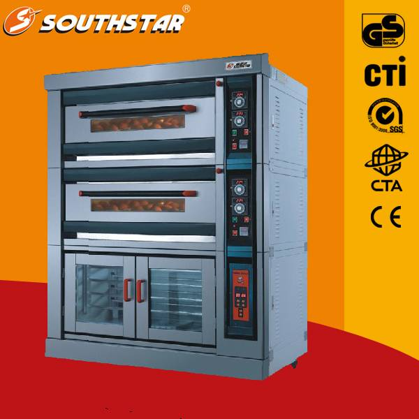 Luxury convection oven 4 trays with proofer deck oven/ bakery oven/ bread oven