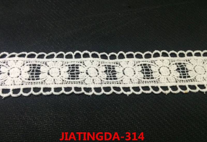 A0 water-soluble cotton embroidered lace fabric