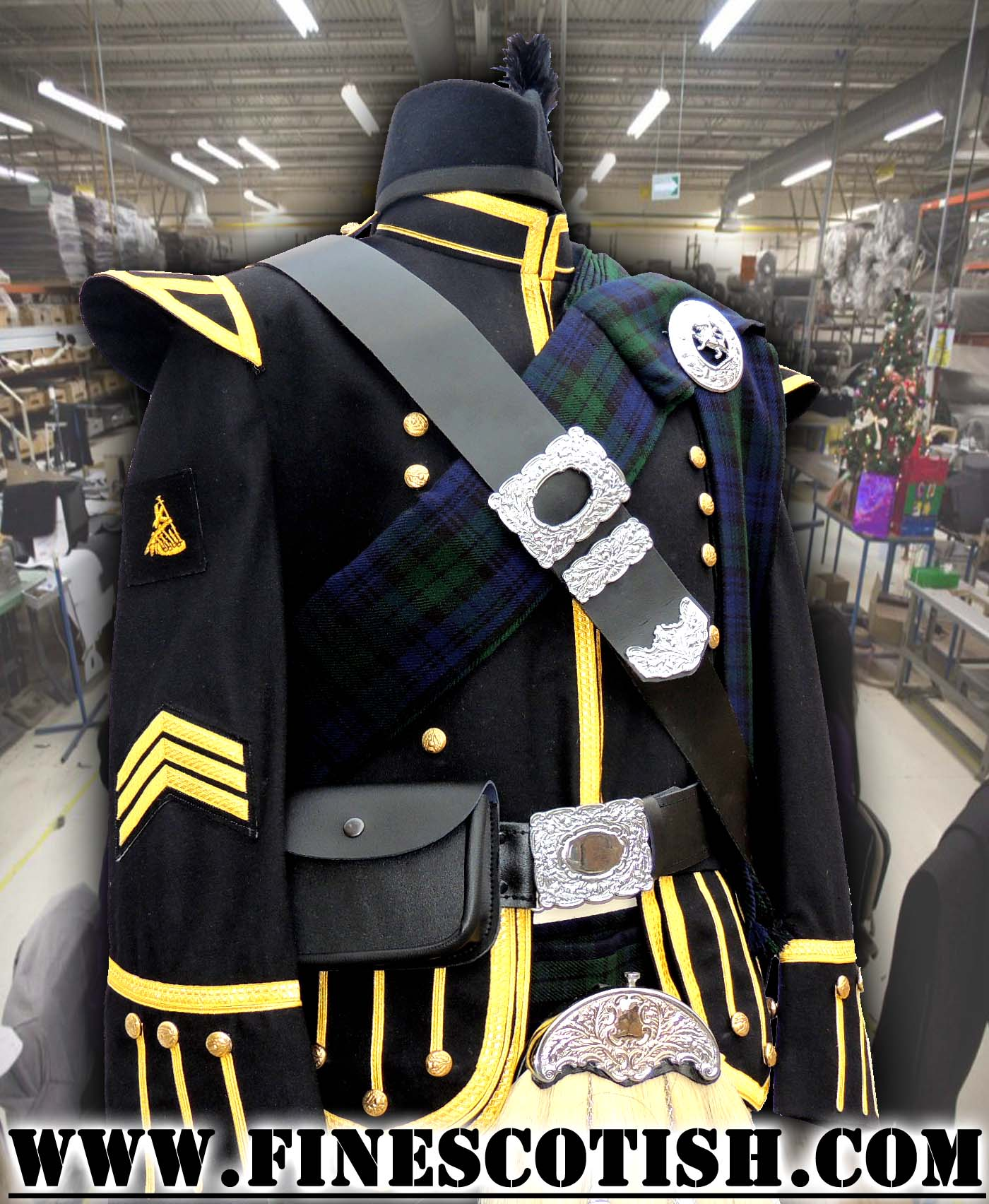 Military Doublet Jacket for Pipe Major