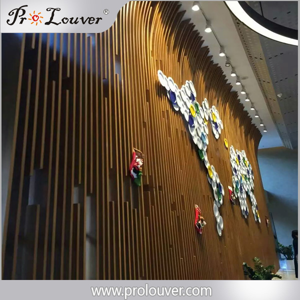 Hotel lobby decorative partition