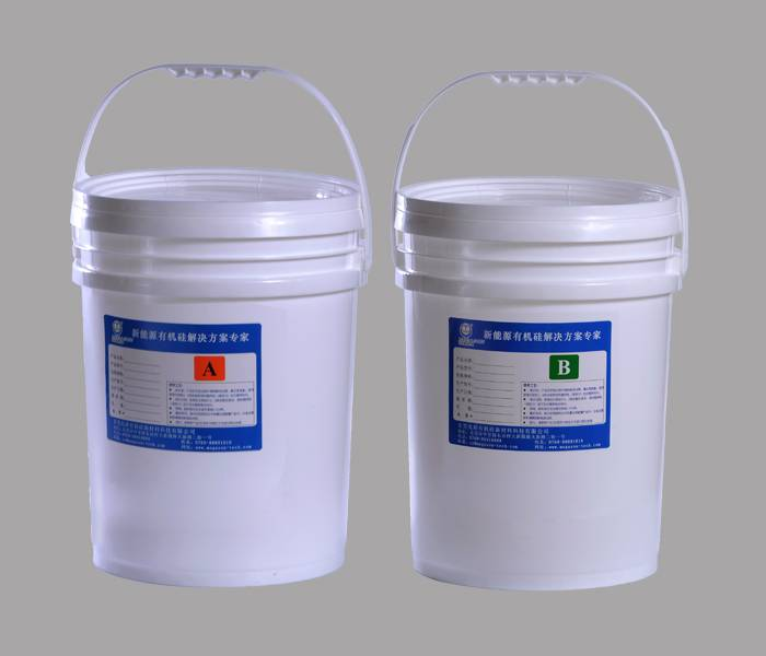 silicone encapsulated adhesive for power source
