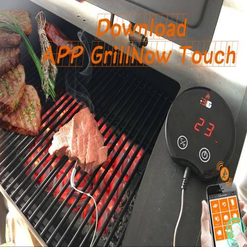 MIEO BBQ Meat Thermometer Bluetooth Touch Screen