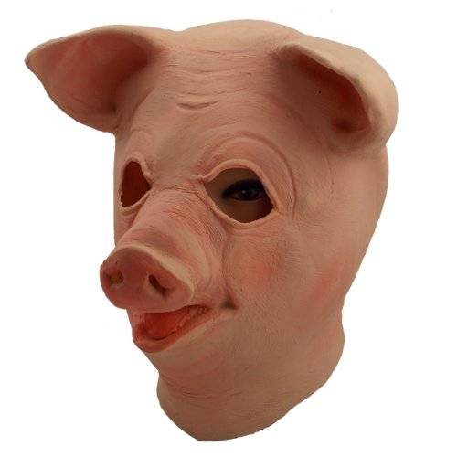 Youtumall Latex Happy Pig Mask : This Swine is All Smiles