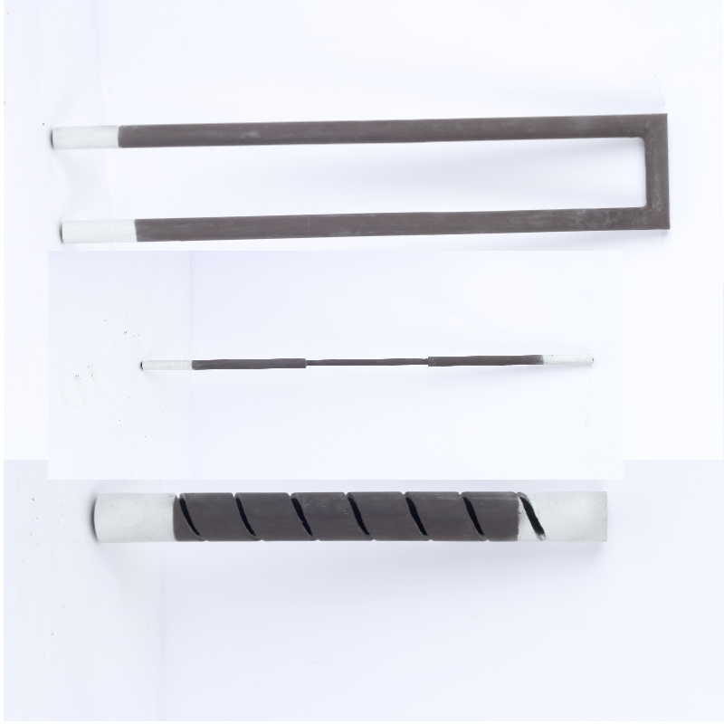 High strength excellent shock resistance double spiral SiC heater furnace silicon carbide heater