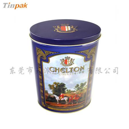 fancy embossed metal coffee storage tin can