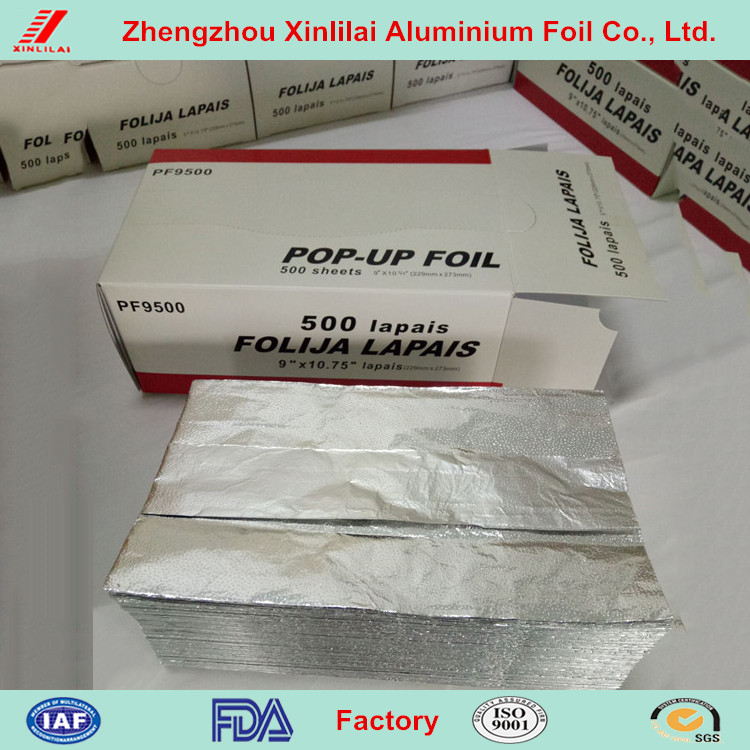 high quality pop-up foil sheets for food packaging