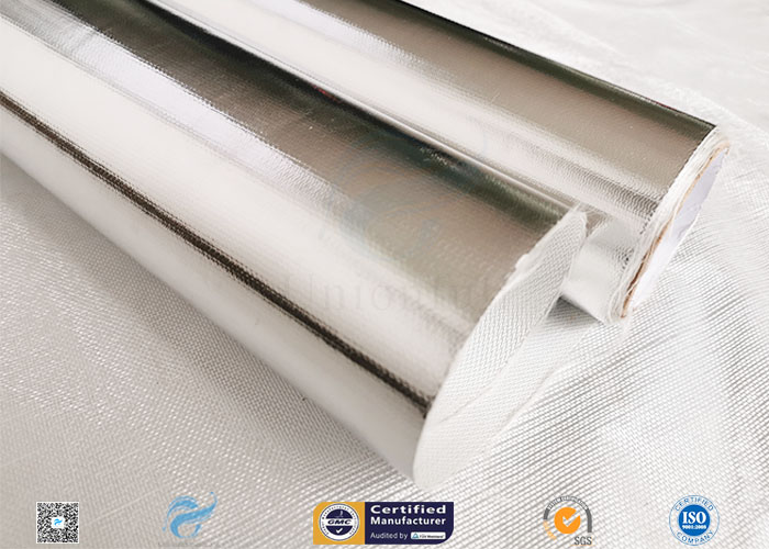 Laminated 0.45mm Thick Aluminium Foil Fiberglass Fabric