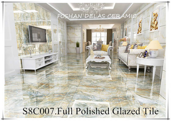 S8C007 800x800 Green Colour Glazed Vitrified Floor Tile Photo