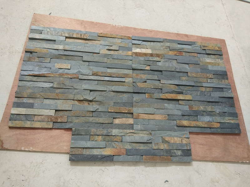 Cultural Stone Black Rust Slate Tiles for Wall Cladding