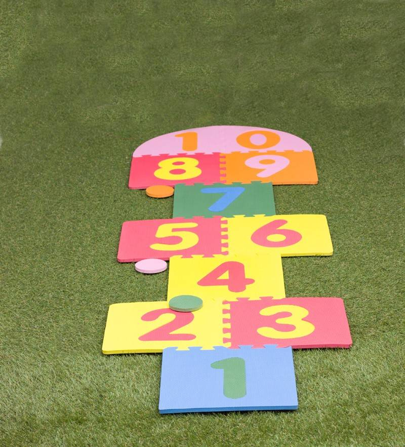 EVA soft puzzle mat for children hopscotch