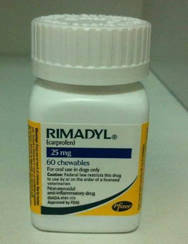 Rimadyl chewable 25mg and 75 mg for Dog