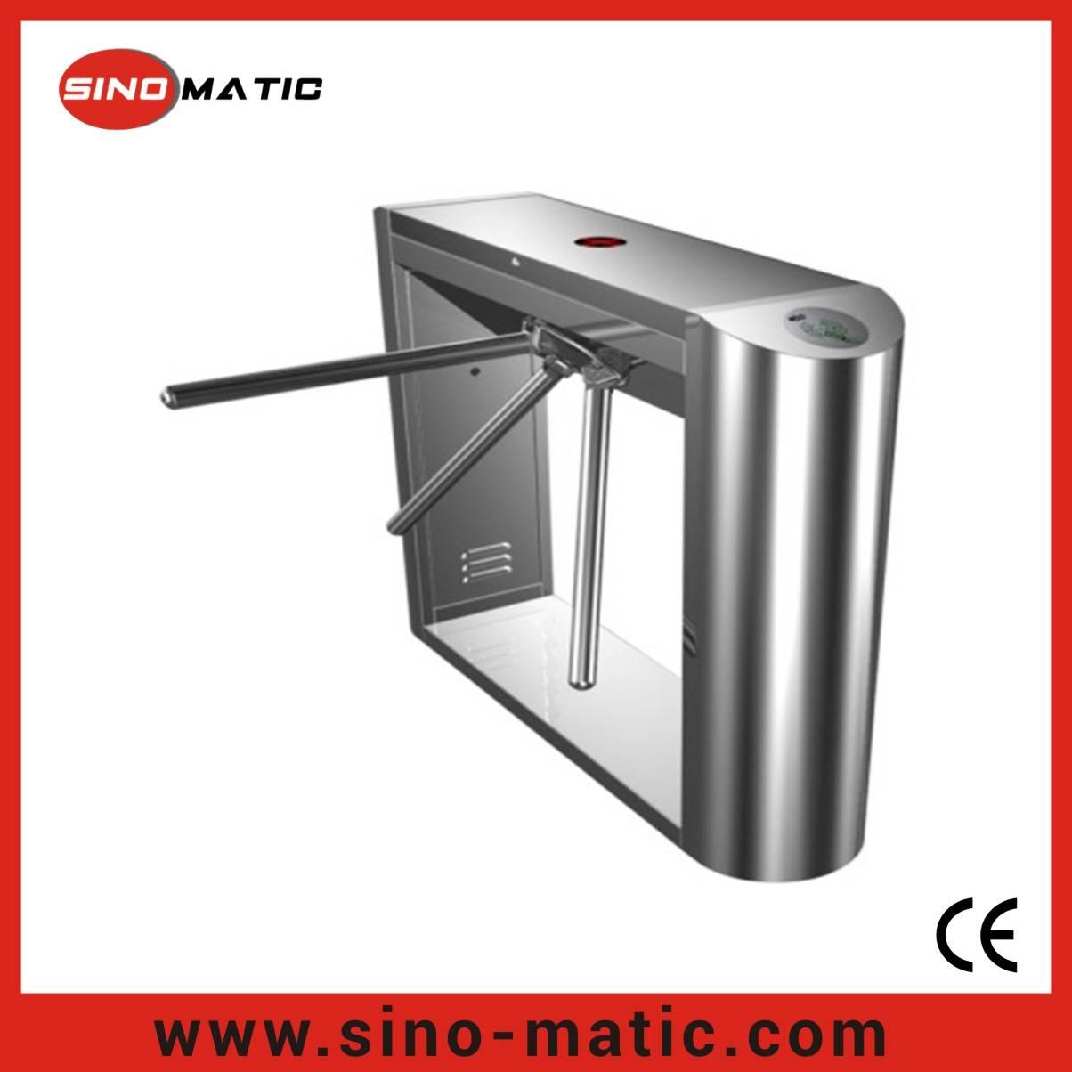 Access Control System Fingerprint Stainless Steel Tripod Turnstile