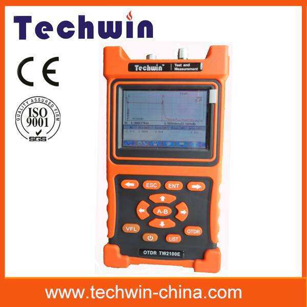 Techwin optical fiber otdr testing meter TW2100E