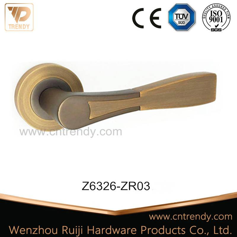 Line Feeling Polished Rondure Interior Wooden Door Handle