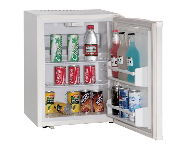 White Portable Mini Electric Beverage Cooler Food and Drink Store Fridge