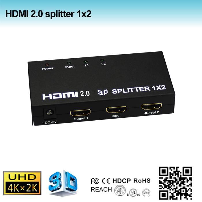 2.0 hdmi splitter 1x2 support 4k@60Hz, CEC control
