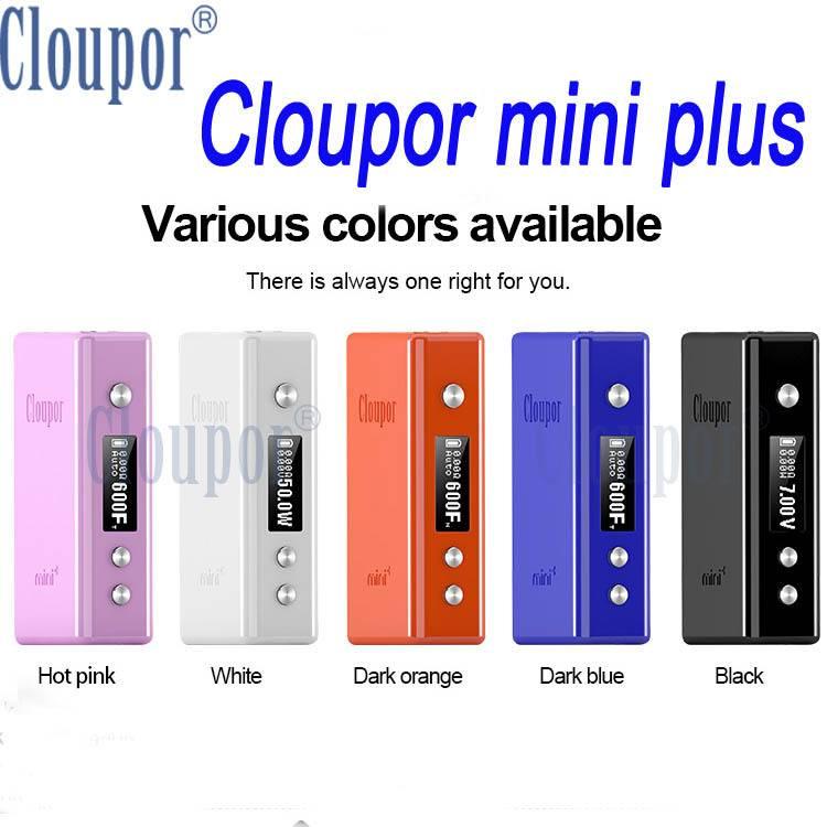 Cloupor 100% Original Cloupor 50W Mini Plus Temperature control VV/VW/VT TC Mod Cloupor Mini Plus 50