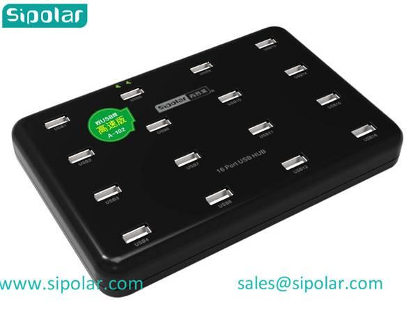 Sipolar well work 16 port usb 2.0 hub