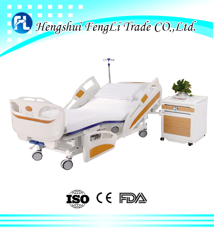 price of two functions manual hospital bed medical bed with ISO CE