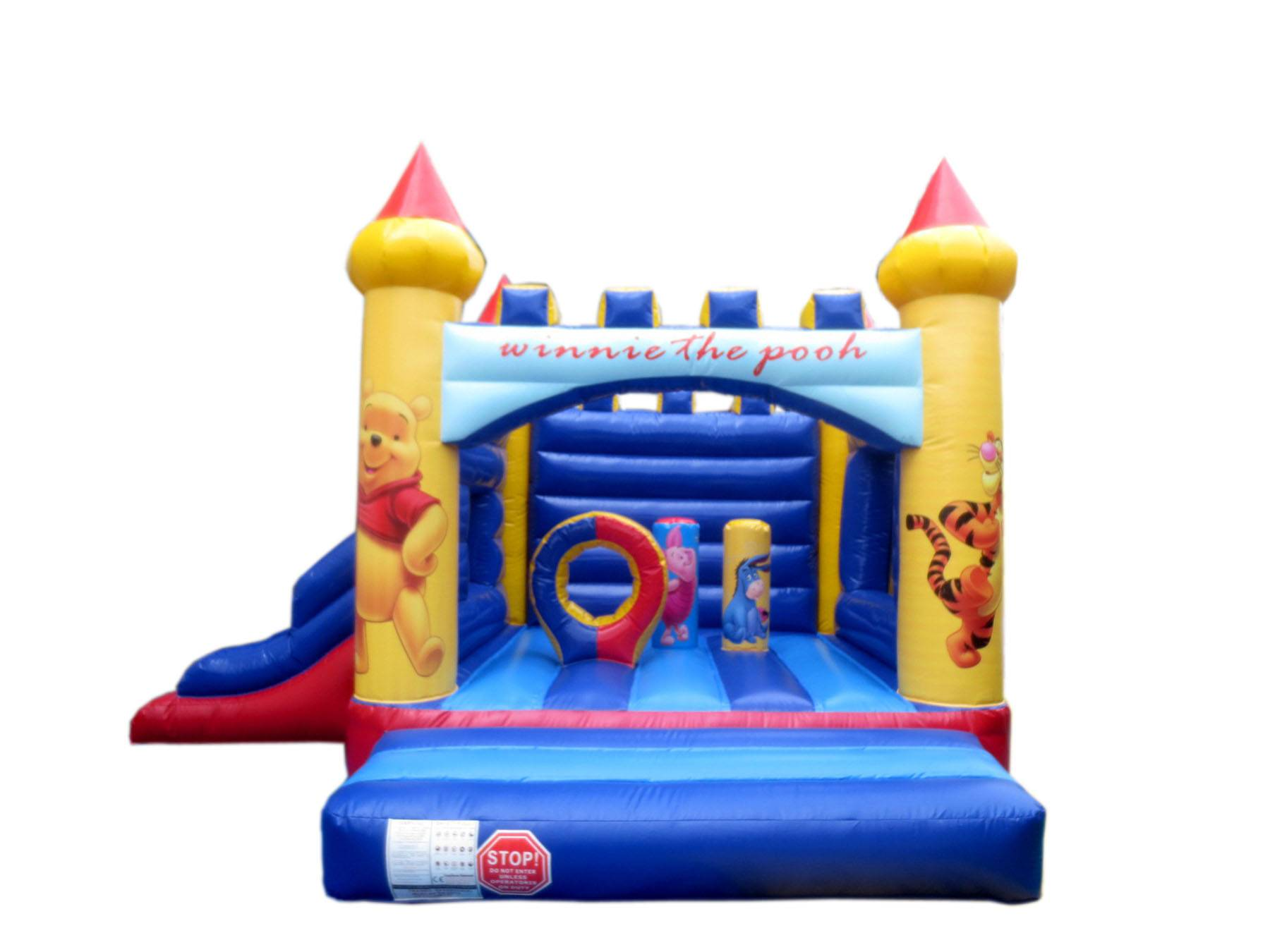 Small Indoor Kids Bears Inflatable jumping house with slide