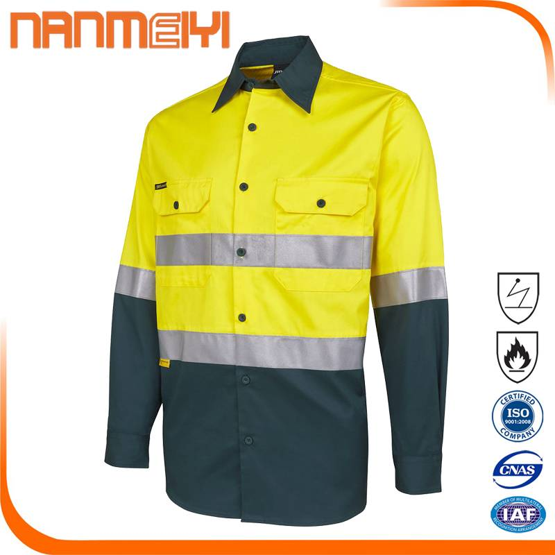 Safety Reflective Work Clothing High Visibility Shirt