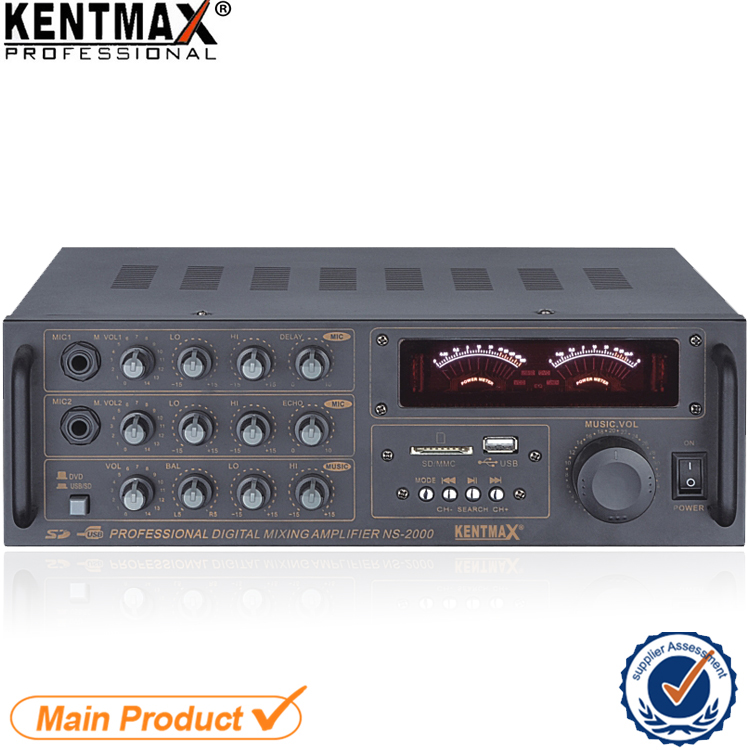 NS-2000 2017 cheap 30 watts professional stereo digital mixing power amplifier with VFD display