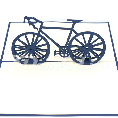 Racing bike-3d card-handmade card-pop up card-birthday card-laser cut-paper cutting