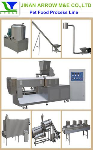 Pet and animal food/fish feed process line
