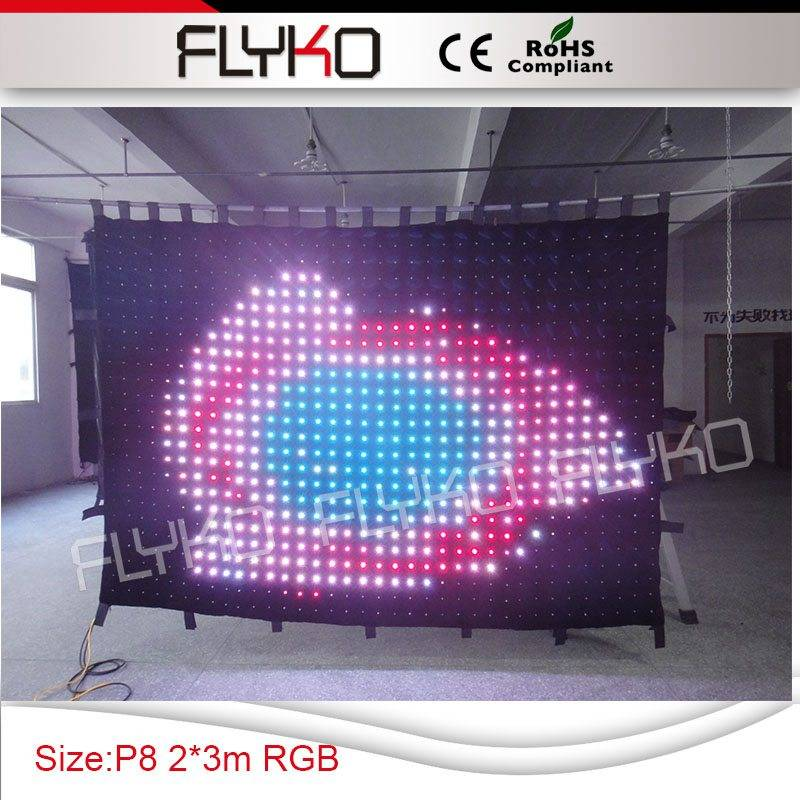 hot new backgroud led stage video curtain