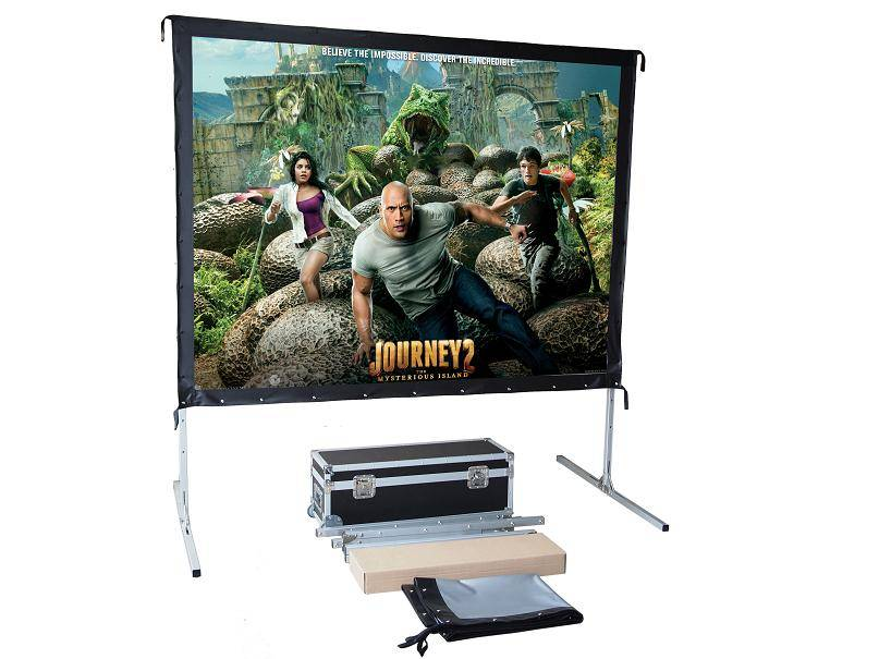 fast fold stage projection screen with draper kit/easy fold rear and front projection screen