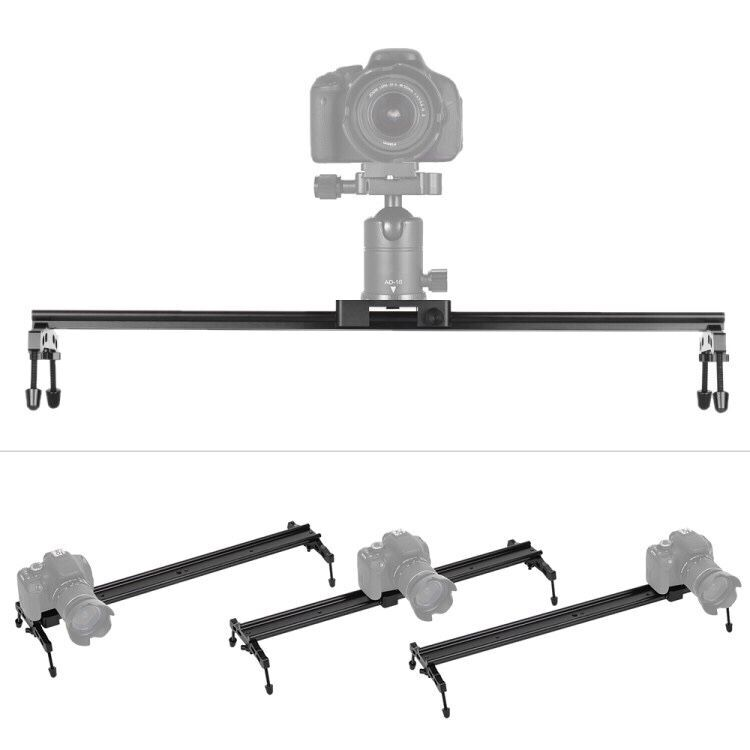 "60cm/23.6"" All Metal Aluminum Alloy Video Track Slider Dolly Rail Stabilizer for Canon Nikon Sony"