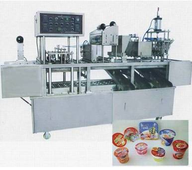 Automatic yogurt cup sealing machine