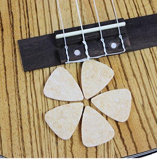 Ukulele Picks,MIBOW Felt Picks / Plectrums for Ukulele and Guitar,8 Pieces Guitar Picks,Multi-color