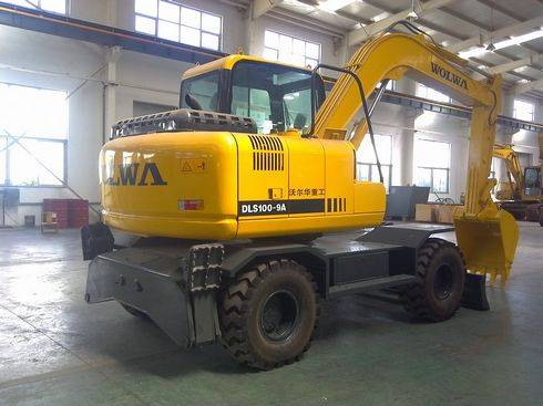10ton commins wheel excavator