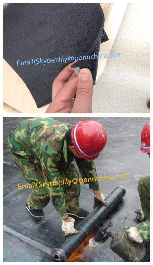 4mm APP/SBS Waterproof Bitumen Membrane With PE Film For Building Roofing